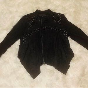 BCBG Suede Cropped Jacket